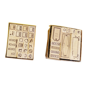 DIY birch different design handicraft competitive wood stamp for card making