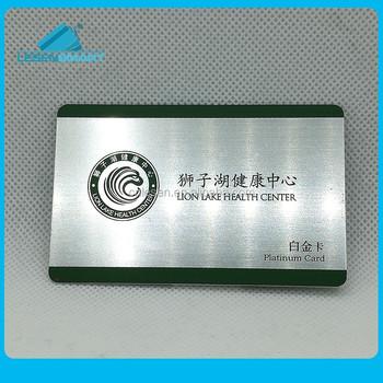 Logo Printable Custom 201 Stainless Steel Metal Mirror Business Card