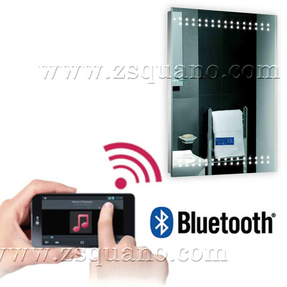 touchscreen gef hrt spiegel im badezimmer mit radio. Black Bedroom Furniture Sets. Home Design Ideas