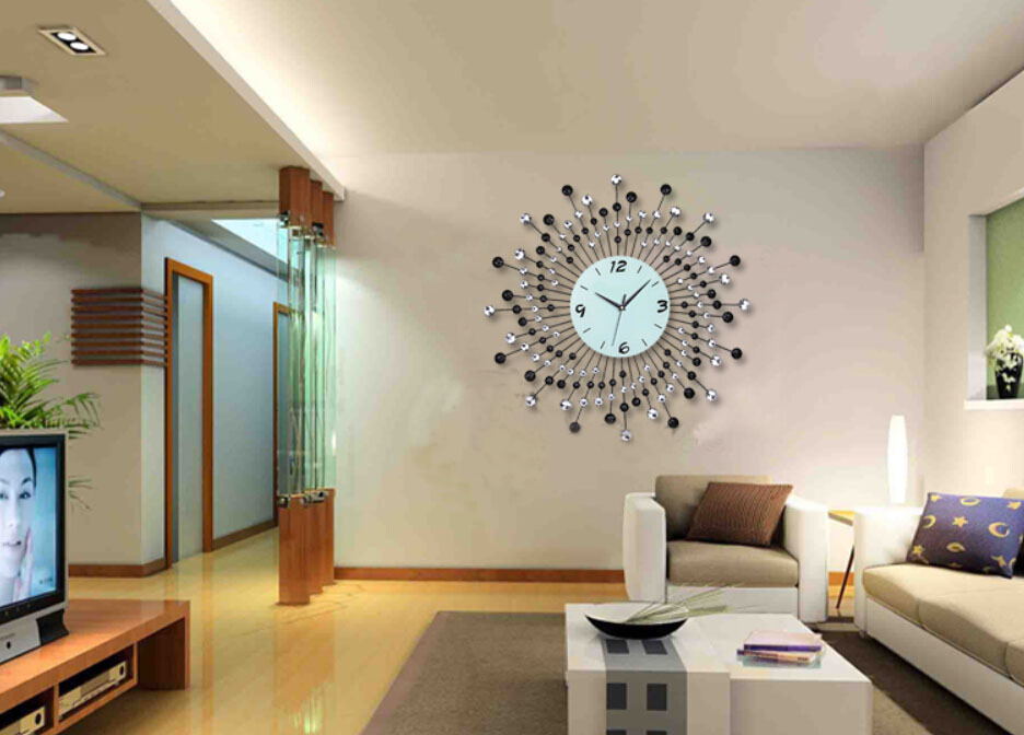Modern living room wall clocks - Modern wall decor for living room ...