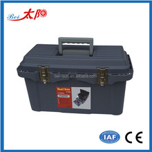 hard plastic carring case tool box with removable tray