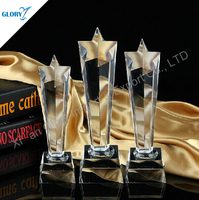 star pillar crystal trophy of awards for sing or TV match