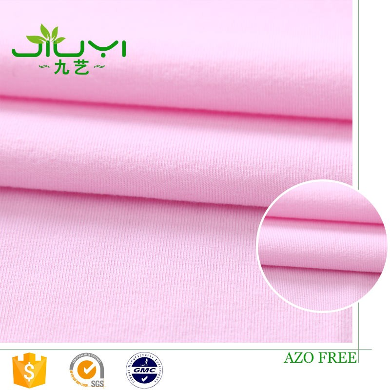free sample high quality wholesale stretch single jersey indian bamboo charcoal fabric