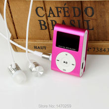 2015 New mini MP3 Player LCD Screen Metal Mini USB Clip MP3 Music Players With Micro TF/SD Card Slot