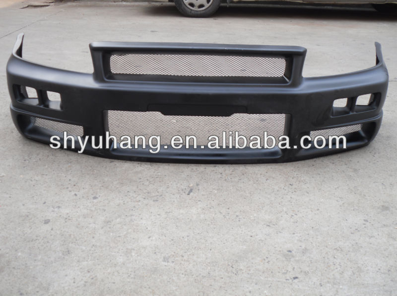 New Coming FRP Bodykit For Skyline R33 GTS JUN Fiber Glass FRONT BUMPER