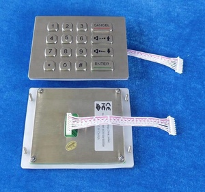4x4 16keys mini kiosk metal outdoor vandal proof numeric keypad