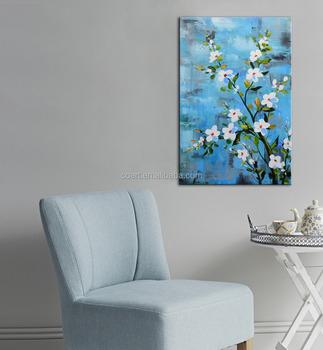 White Flower Oil Painting On Canvas Handmade Buy White Flower Oil