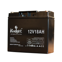12V18Ah Wholesale rechargeable UPS EPS DC system deep cycle battery with high quality 12ah 9ah