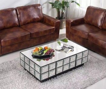 mirrored table coffee table mirrored glass living room furniture