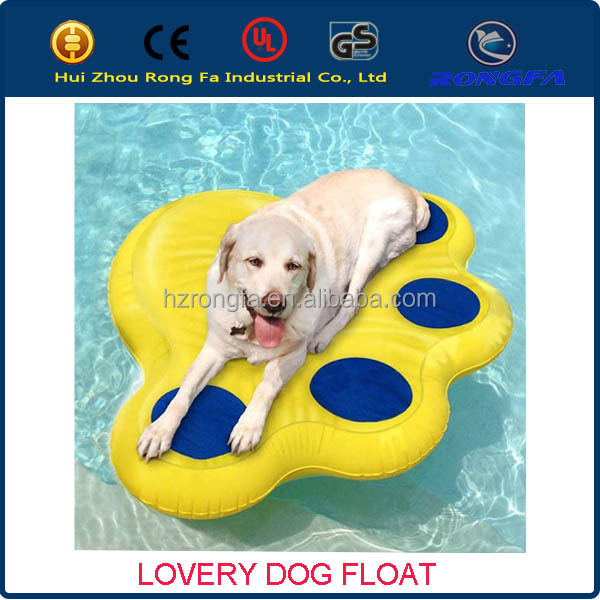pet products! factory hot sale ce certificte dog float/inflatable dog pool float