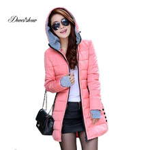 Prešívaná dlhá dámska zimná bunda s kapucňou