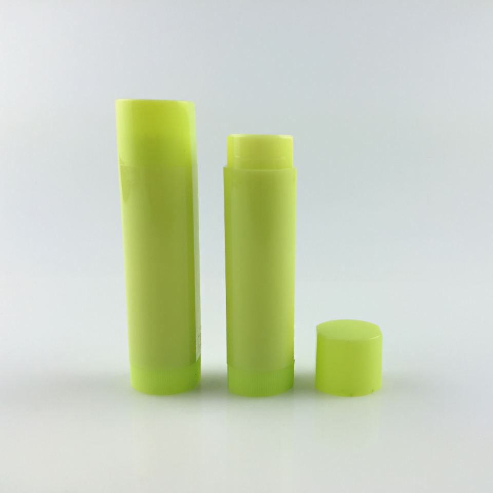 cosmetic type recyclable feature solid oval shaped biodegradable lip balm container
