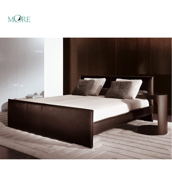 Modern Minotti Bed Popular Wood bed Bedroom furniture home furniture
