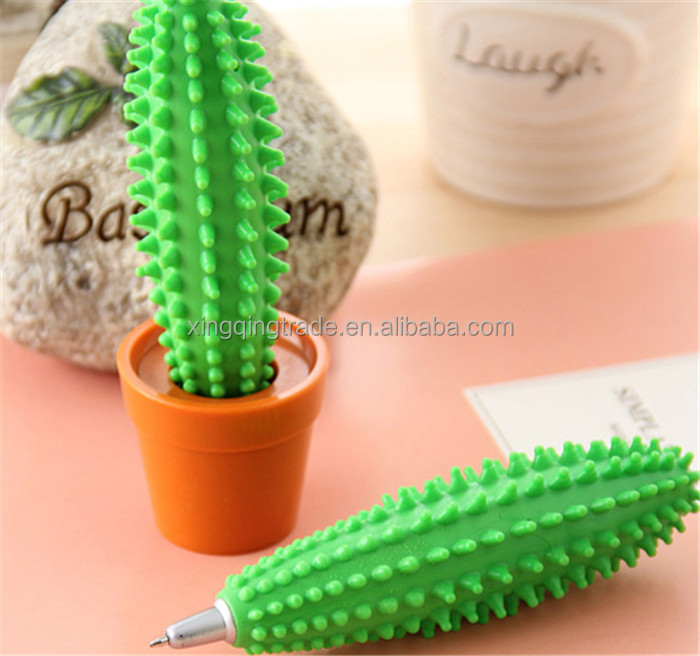 Mini Green Cactus Ballpoint Pen 0.7mm Desktop Decoration Office School Stationery Supplies Students Gifts