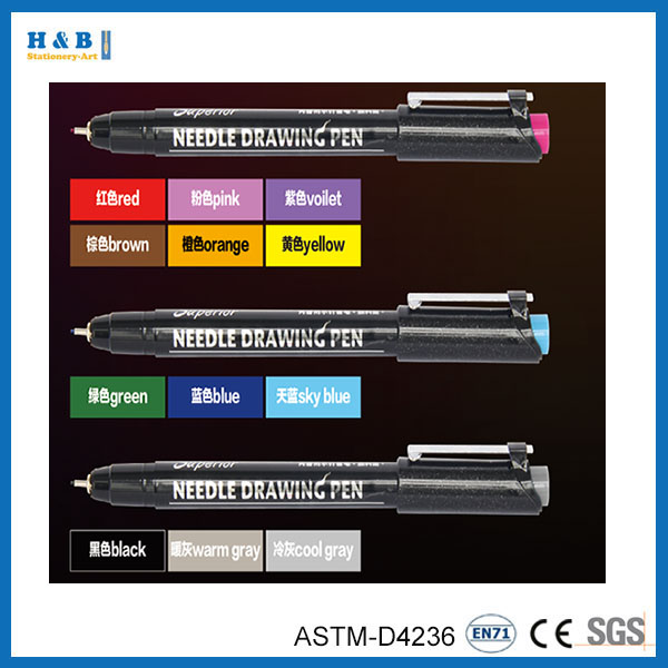 metallic fineliner drawing pen