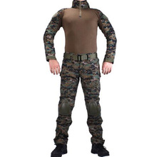 Tactical Airsoft Combat BDU Uniform Wholesale Jungle Digital Camouflage Suit