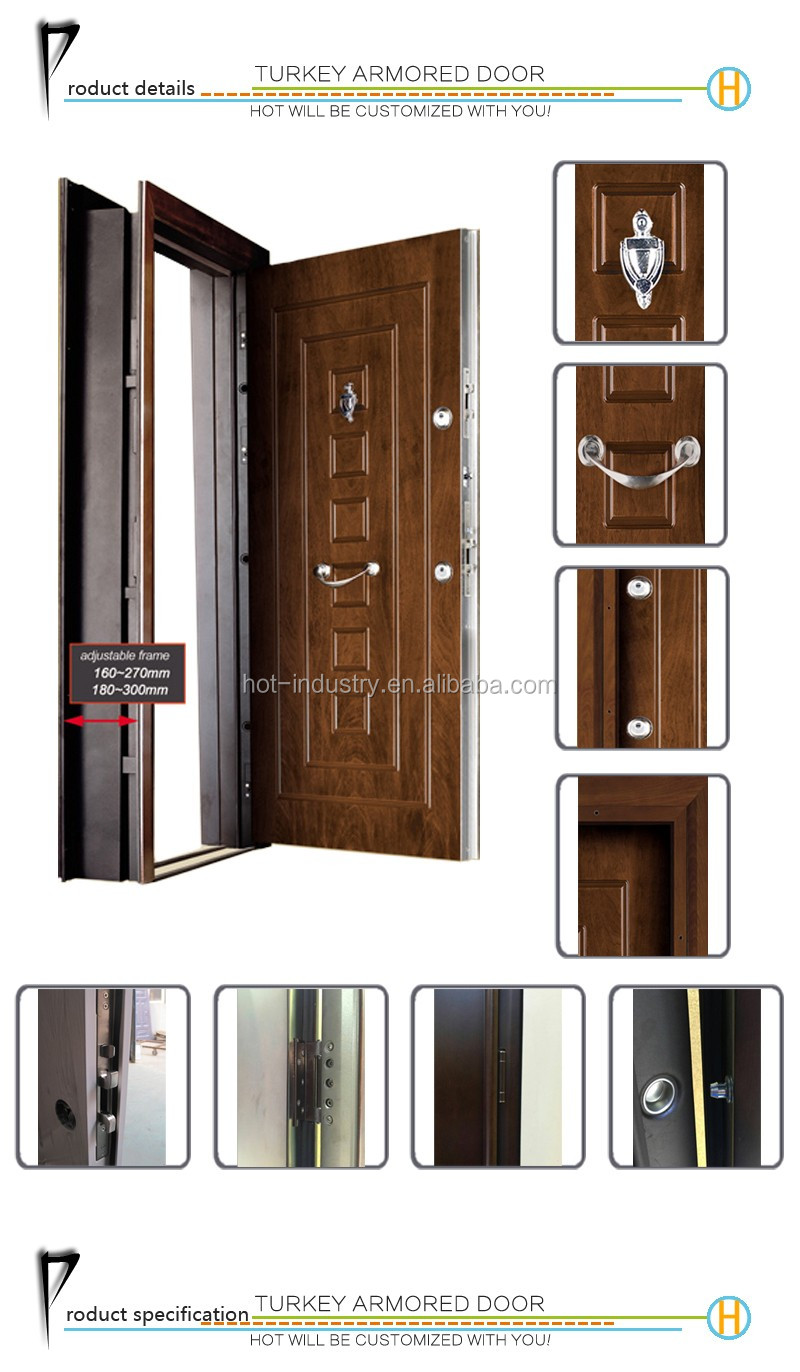 Exterior: Bullet-proof Armored Steel Entry Door High Quality Secure