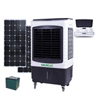 two stage solar power portable evaporative air cooler conditioner