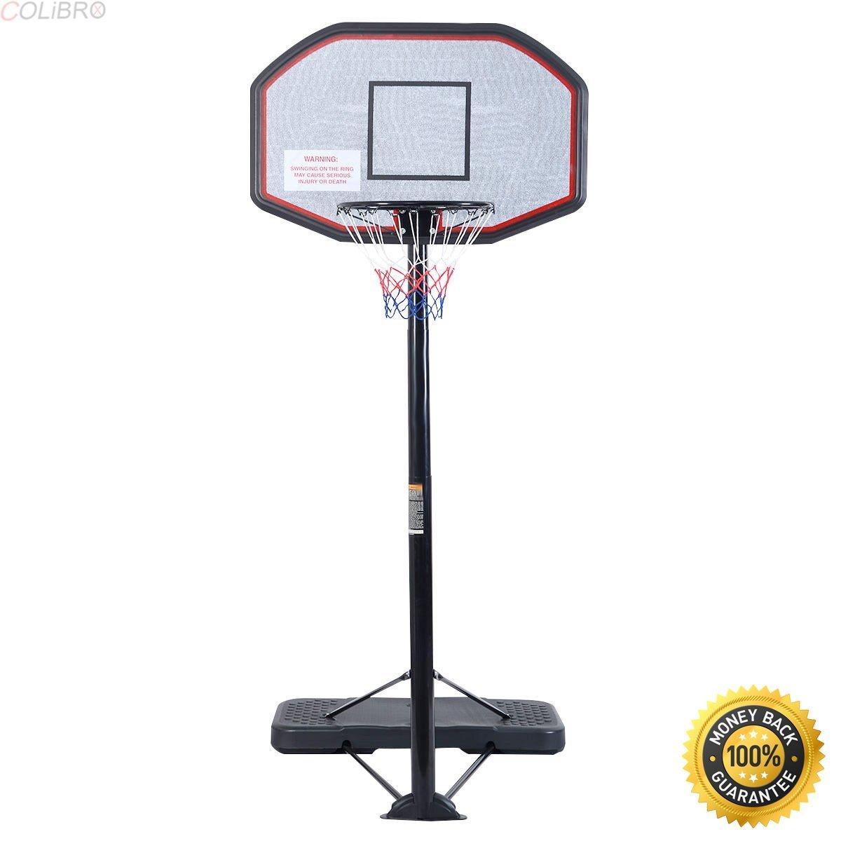 Get Quotations · COLIBROX--Goplus 10FT 43   Backboard In Outdoor Adjustable  Height Basketball Hoop e6d9c1bdc