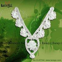 vintage flower lace collar