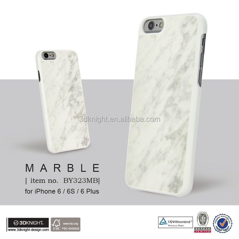 Hot selling Real Marble Stone Hard PC Back Cover For iPhone 6 6S Plus Phone Case Accessories