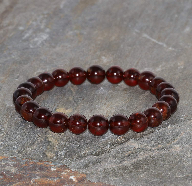 CaratYogi Genuine Garnet 925 Sterling Silver Charms January Birthstone Pendant Chakra Healing Brown Red
