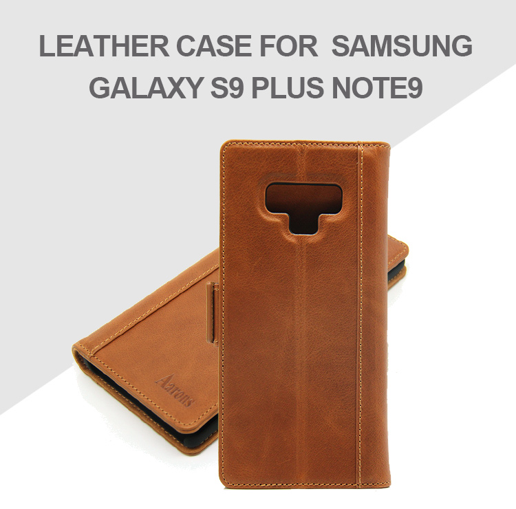 Cell phone accessories card slots leather back cover wallet phone case for Samsung Galaxy Note 9