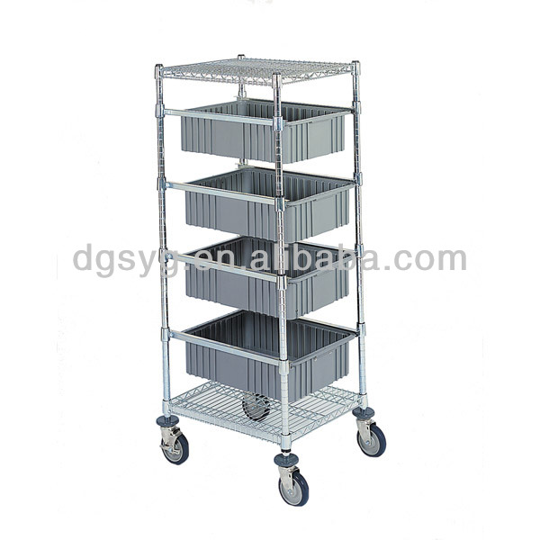 Adjustable Tote Box Unit Adjustable Tote Box Shelving