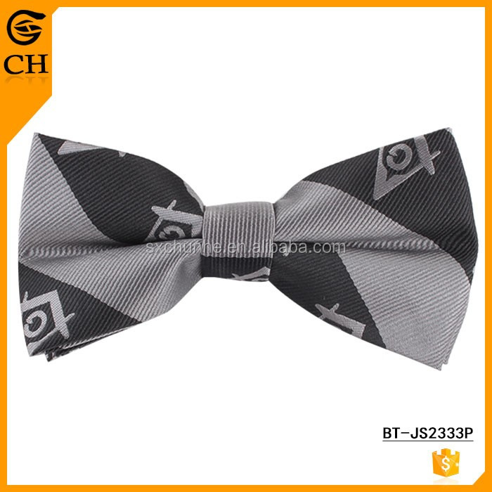 Masonic Polyester Woven Bow Tie