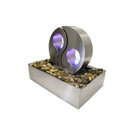 LED garden fountain stainless steel indoor water feature outdoor waterfalls for home decoration