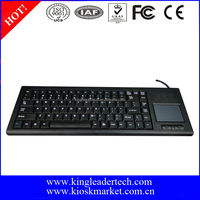 Rugged plastic computer keyboard with touchpad and 87 keys