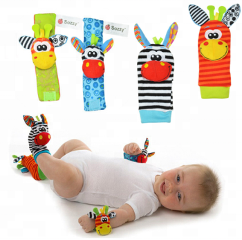 Baby rattle toys Garden Bug Wrist Rattle and Foot Socks Animal Cute Cartoon Baby Socks rattle toys