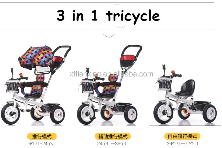 New Arrival All Kinds Of Kids Folding Tricycle Carbon Steel Baby ...
