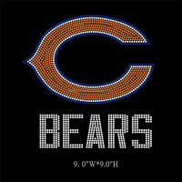 Hotsell Chicago Bears Design Custom Rhinestone Transfers For T-shirt