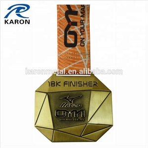 wholesale antique plated running race finisher medal