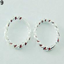 Блестящие гладкие серьги-кольца в стиле хип-хоп, маленькие большие серьги-кольца для женщин и мужчин, модные серьги-кольца с застежкой(Китай)