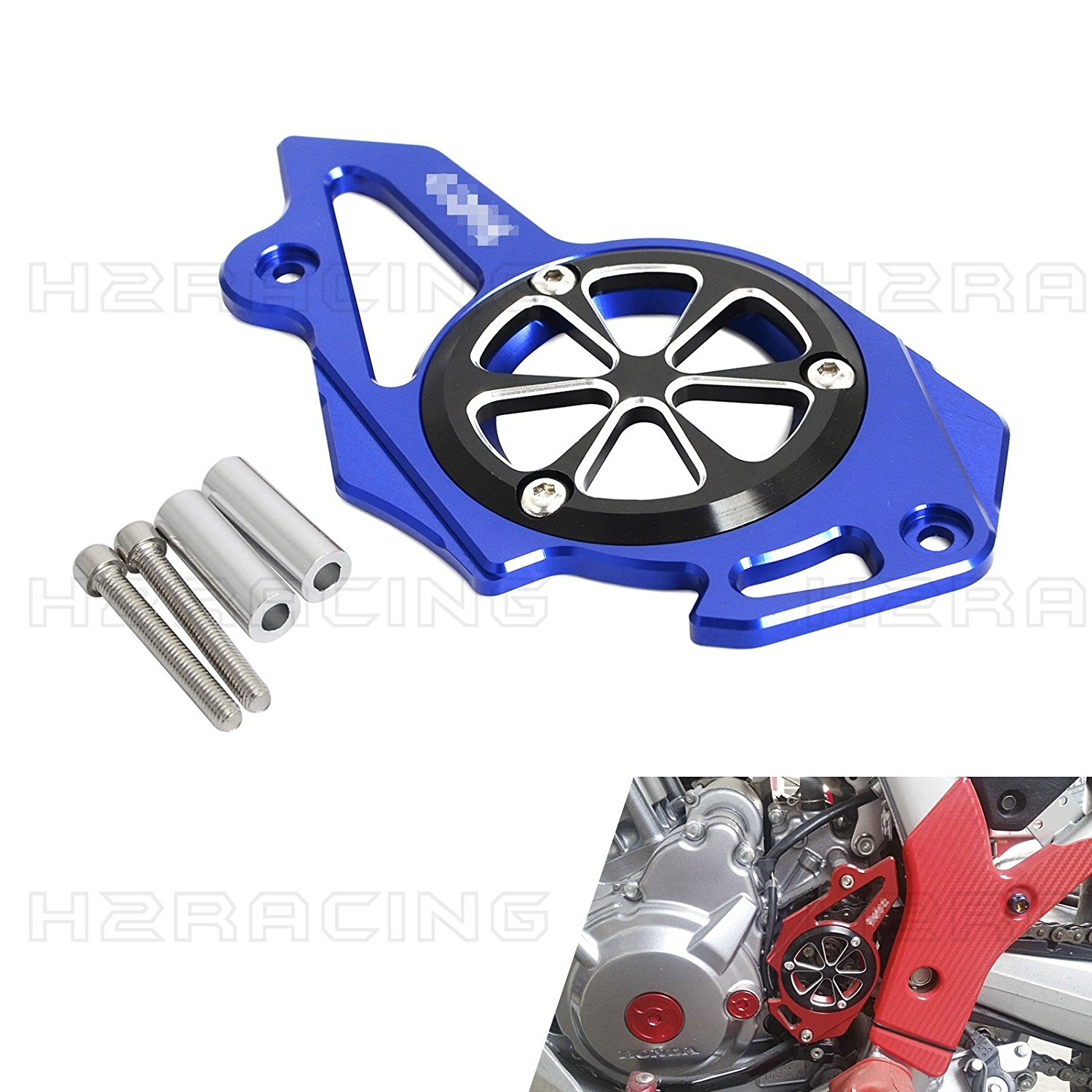 H2RACING Blue Front Sprocket Chain Cover Guard Protector for Honda CRF250L/M 2012 2013 2014 2015