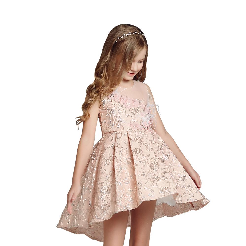 Venda Al Por Mayor Vestido De Niños Ropa De Vestido Corto Frente Largo Vestido Para Las Niñas Buy Vestido Formalvestido Floral Largovestido Largo