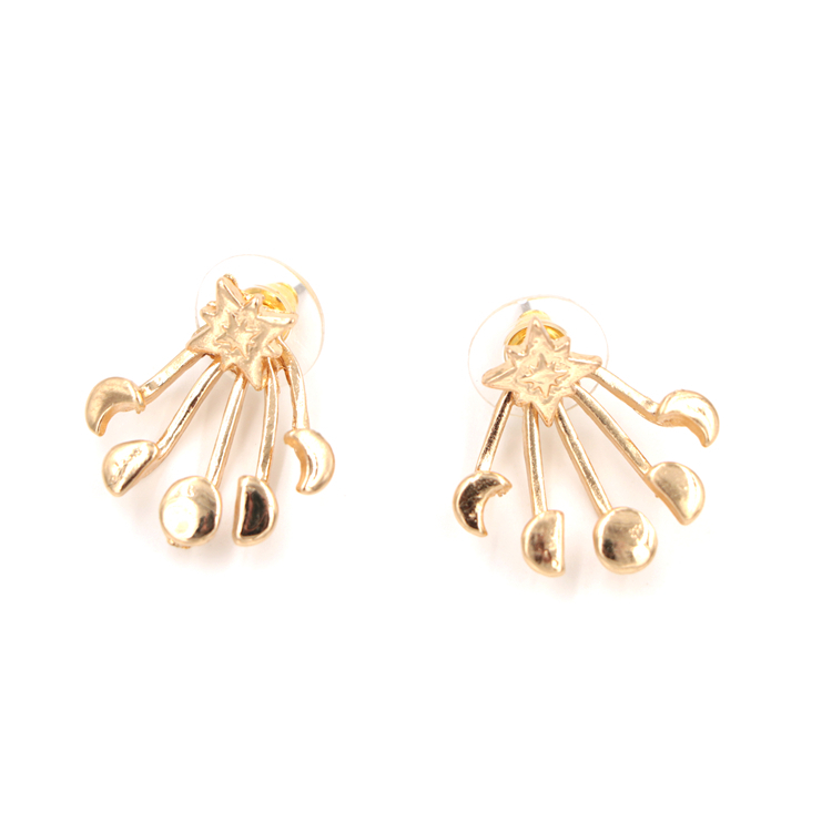 Fashion Simple 18K Yellow Gold Claw Shaped Stud Earrings