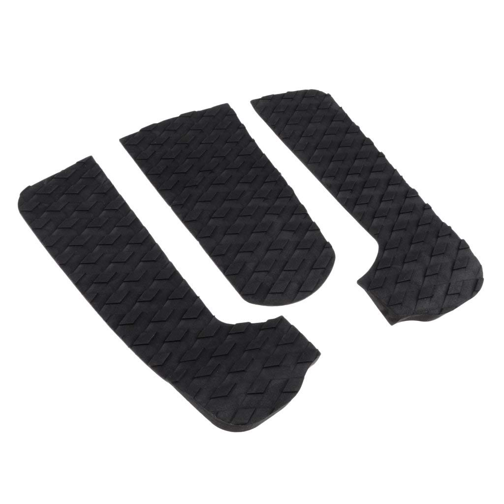 Prettyia 3Pcs Premium EVA Surfboard Traction Pad, Skimboard Shortboard Surf Traction Pad Deck Grip Tail Pads Accessories