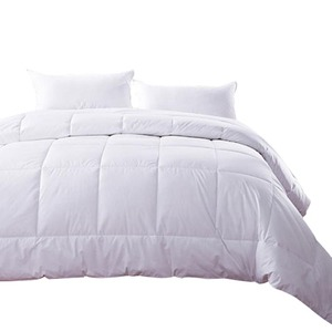Hot sale 100% cotton hotel white goose down alternative quilted comforter for winter