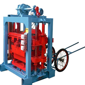 manual solid concrete block making machine/small simple block making machine for sale