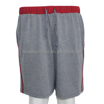 Customize Men's comfortable grey pajamas pants gym shorts