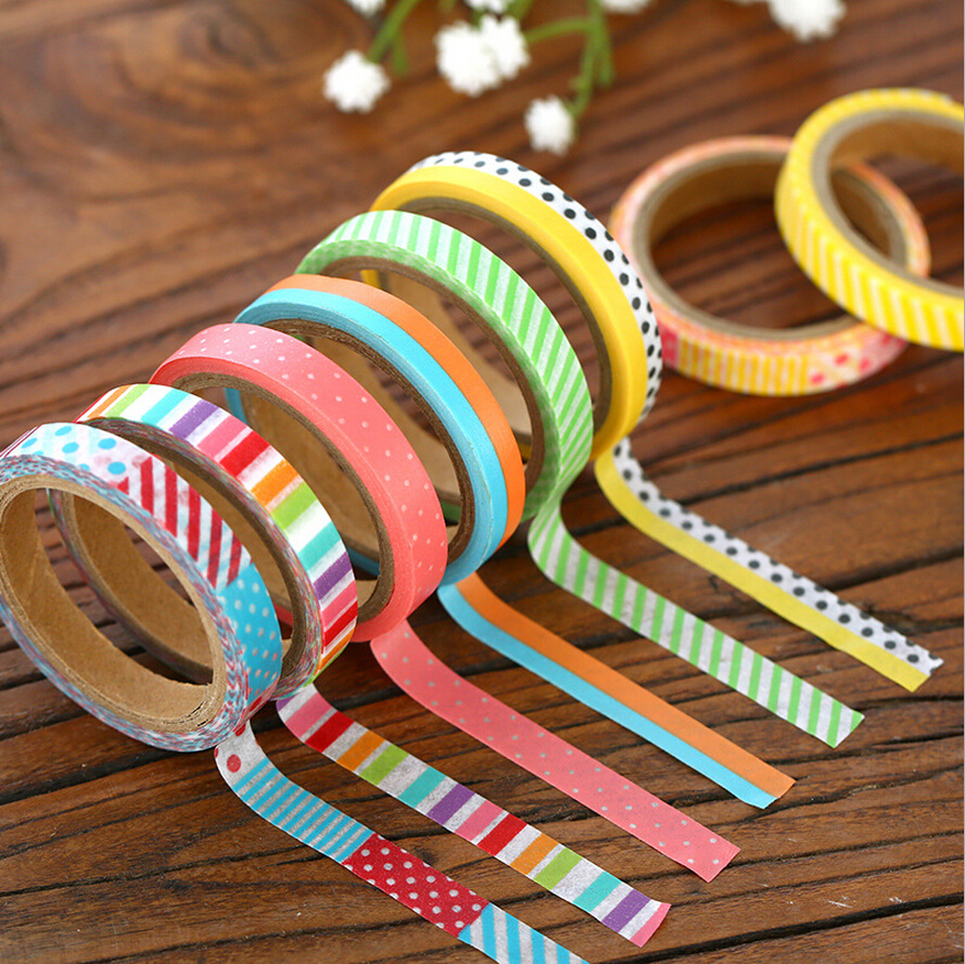 6 pcs lot british pattern masking tapes slim deco washi tape for diy album scrapbook japanese. Black Bedroom Furniture Sets. Home Design Ideas