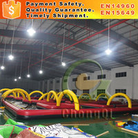 Go kart track inflatable track for quad bikes for sale