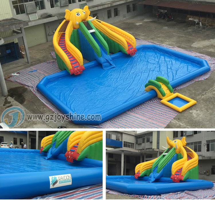 Red Blow Up Rectangle Inflatable Swimming Pools Customized Size Red Inflatable Pool For Kids and Adult