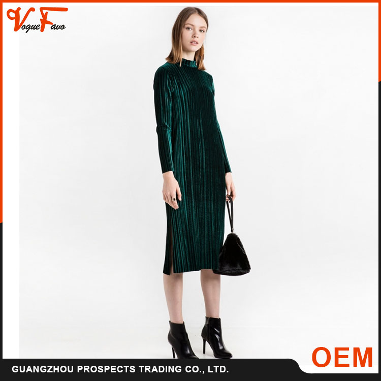 Fashion Europe and America casual spandex long sleeve dress women