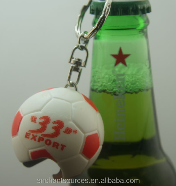 Gifts Keychain Plastic Football Bottle Opener Hot Selling