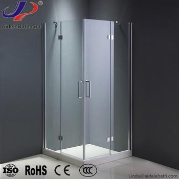 Square Frameless Hinge Shower Enclosure Wet Room Door Shower Room