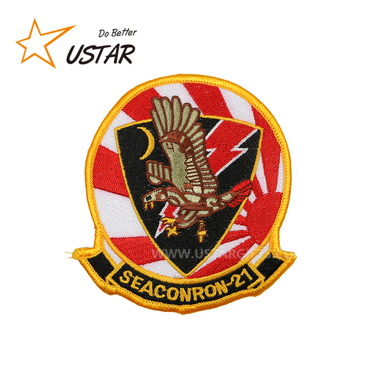 Custom Wholesale High Quality customized number logo epaulet patches embroidery For Teenage Clothing